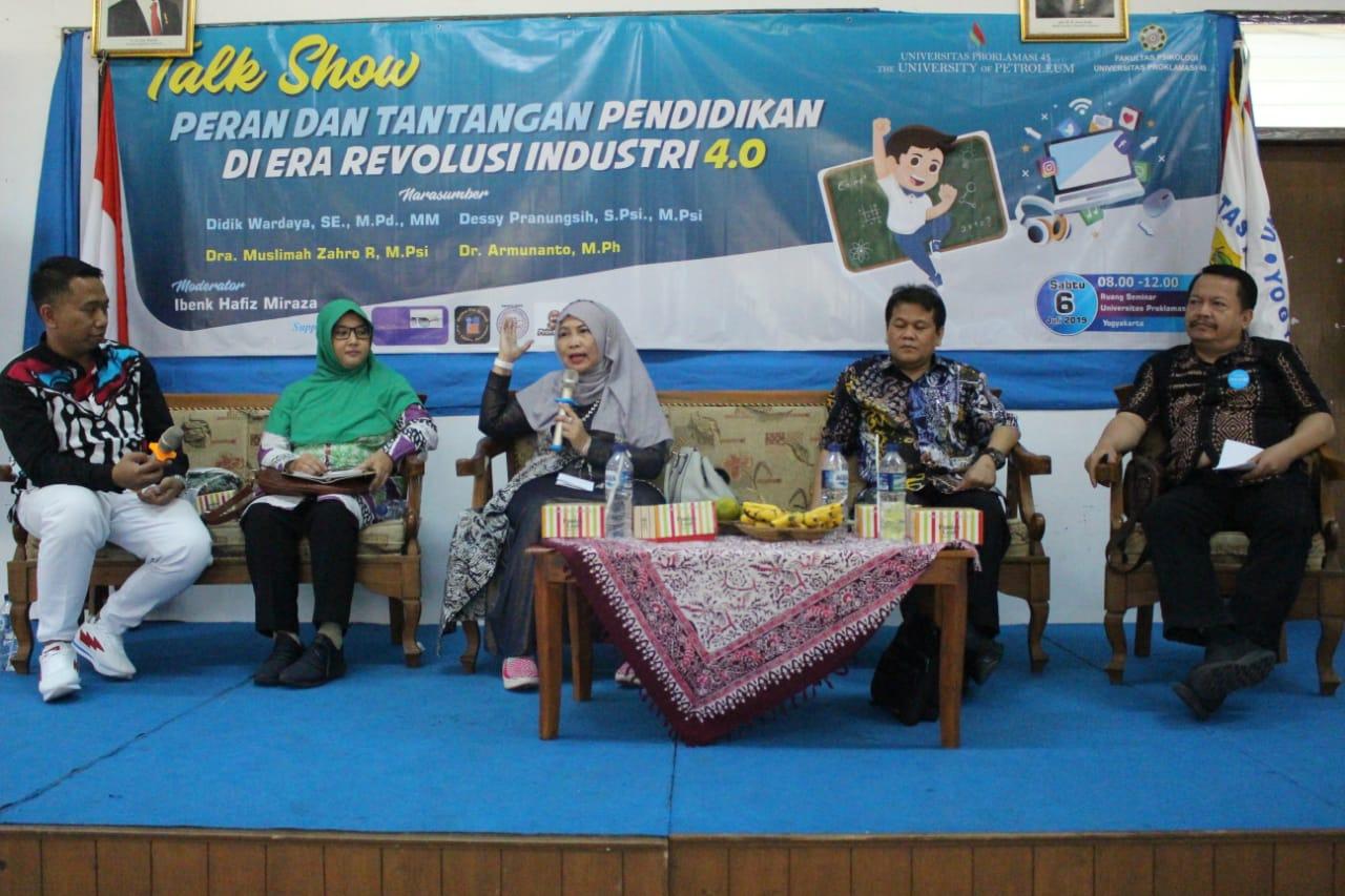 Talkshow Psikologi UP45: Peran Pendidikan di Era Revolusi Industri 4.0