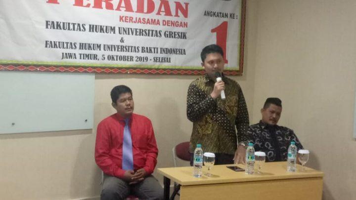 Ketua Umum Indranas Gaho Buka Acara PKPA Organisasi Advokat PERADAN di Surabaya
