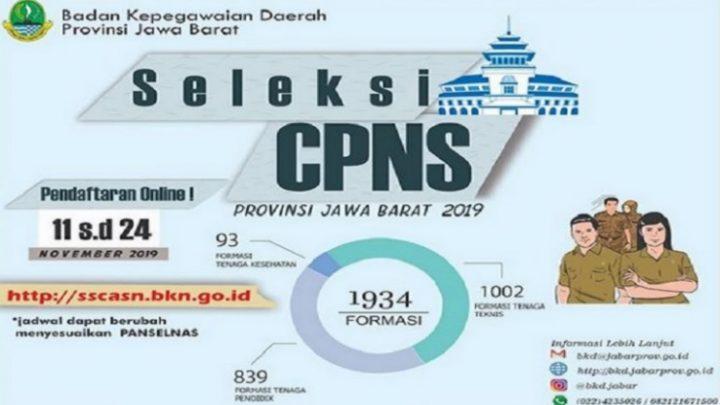 Seleksi CPNS 2019 Provinsi Jawa Barat Telah Dibuka, Berikut Tata Cara Pendaftarannya