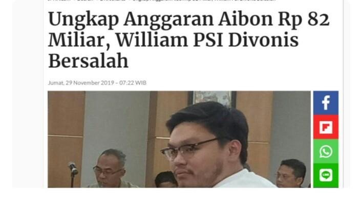 Bongkar Anggaran Lem Aibon, Wiliam PSI Divonis Bersalah, BK Bela Anies..