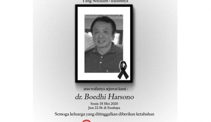 [BERDUKA LAGI] Dokter Boedhi Harsono Meninggal Dunia Karena Terpapar COVID-19, Istri Kritis di Surabaya