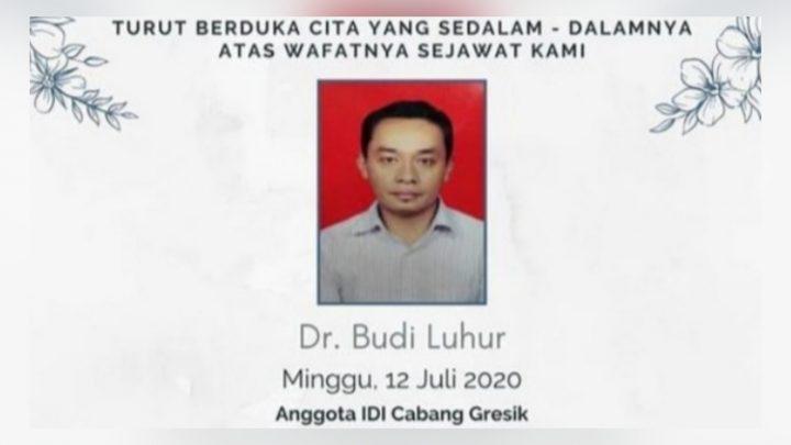 Lagi, Dokter Budi Dikabarkan Meninggal Dunia Karena Terinfeksi Covid-19