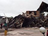 Kantor Gubernur Sulawesi Barat (Sulbar) roboh akibat gempat tadi subuh Pukul 2.30 Wita, Jumat 15 Januari 2021. (Sumber: Istimewa).