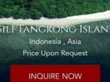 Pulau atau Gili Tangkong di Kecamatan Sekotong Kabupaten Lombok Barat, Nusa Tenggara Barat diduga dijual secara online melalui situs Private Island Online. (Sumber: CNN Indonesia).