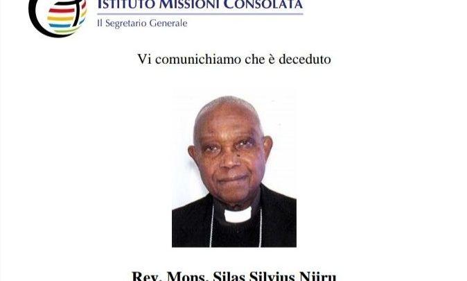 [BERDUKA LAGI] Uskup Njiru Dikabarkan Meninggal Dunia Karena COVID-19