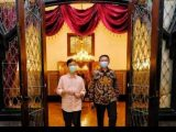 Wali Kota Solo, Gibran Rakabuming Raka bertemu dengan Komisaris Utama Pertamina, Basuki Tjahaja Purnama (BTP) atau Ahok, Rabu (7/4/2021). (Sumber: Facebook Gibran Rakabuming)