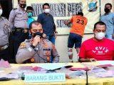 Kapolsek Sunggal memaparkan kasus pembunuhan terhadap Jamilah. (Sumber: Merdeka.com).