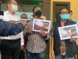 Elemen Rumah Kemaslahatan Indonesia melaporkan video viral pesta ulang tahun Gubernur Jatim Khofifah Indar Parawansa ke Polda Jatim, Senin (24/5/2021). (Sumber: KOMPAS.com).