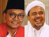 Mohamad Guntur Romli mengutarakan kekecewaannya soal vonis untuk Habib Rizieq Shihab (Hl&RS) dalam kasus kerumunan Petamburan. (Sumber: kolase NESIATIMES.COM).