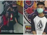 (Kiri) video kekerasan yang viral dan (Kanan) foto pelaku saat diamankan kepolisian. (Sumber: TribunPapua.com).
