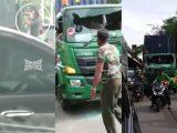 Tangkapan layar video viral penganiayaan sopir truk oleh pengemudi Pajero di Sunter, Jakarta Utara (Sumber: Instagram/@jakut.info).