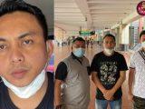 Tampang pengemudi Pajero penganiaya Sopir Truk di Jakut (tengah, memakai baju hitam, celana jins, dan masker putih) (Sumber: Istimewa).