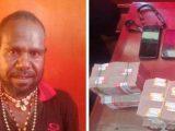 Nelson Murib dan barang bukti berupa uang tunai Rp 370 juta (Sumber: Tribun-Medan.com).