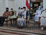 Wakil Presiden Ma'ruf Amin saat melakukan pertemuan dengan Majelis Ulama Indonesia (MUI) dan sejumlah organisasi Islam, Minggu (18/7/2021) malam.(Sumber: KIP/Setwapres).