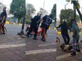 Tangkap layar video perkelahian antara Pemuda Pancasila dan debt collector (Sumber: Instagram.com/@merekamjakarta)