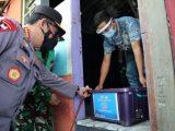 Kapolri Listyo Sigit Prabowo seragkan bantuan di masa PPKM Darurat (Sumber : Humas Polri)
