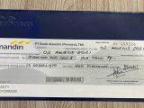 Beredar Foto Bilyet Giro Bank Mandiri Rp2 Triliun atas nama Heryanti di media sosial. (Sumber: Istimewa).
