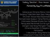 Situs Setkab di Sumbar Diretas (Sumber: Istimewa).