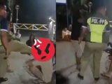 Viral video oknum Satpol PP Blora tendang muka seorang pelajar yang sedang jongkok (Sumber: Kolase tangkapan layar Twitter/@Irwan2yah).