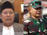 Ketua MUI Bid Dakwah dan Ukhuwah K.H. Dr. Cholil Nafis dan Letjen Dudung (Sumber: Kolase via NESIATIMES.COM).