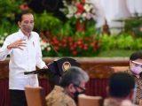 Presiden Joko Widodo (Jokowi) saat memberikanpenjelasan di depan perwakilan para ketua asosiasi di bidang ekonomi dan bisnis, pada Rabu, (8/9/2021), di Istana Negara, Jakarta. (Sumber: Istimewa).